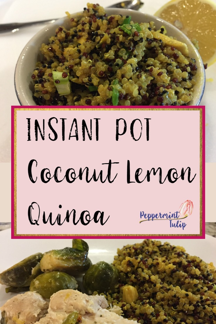 Instant Pot Coconut Lemon Quinoa
