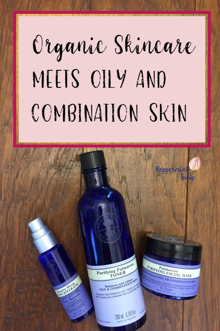 Organic skincare meets Oily and Combination skin. Neal's Yard Remedies. Palamrosa essential oils.