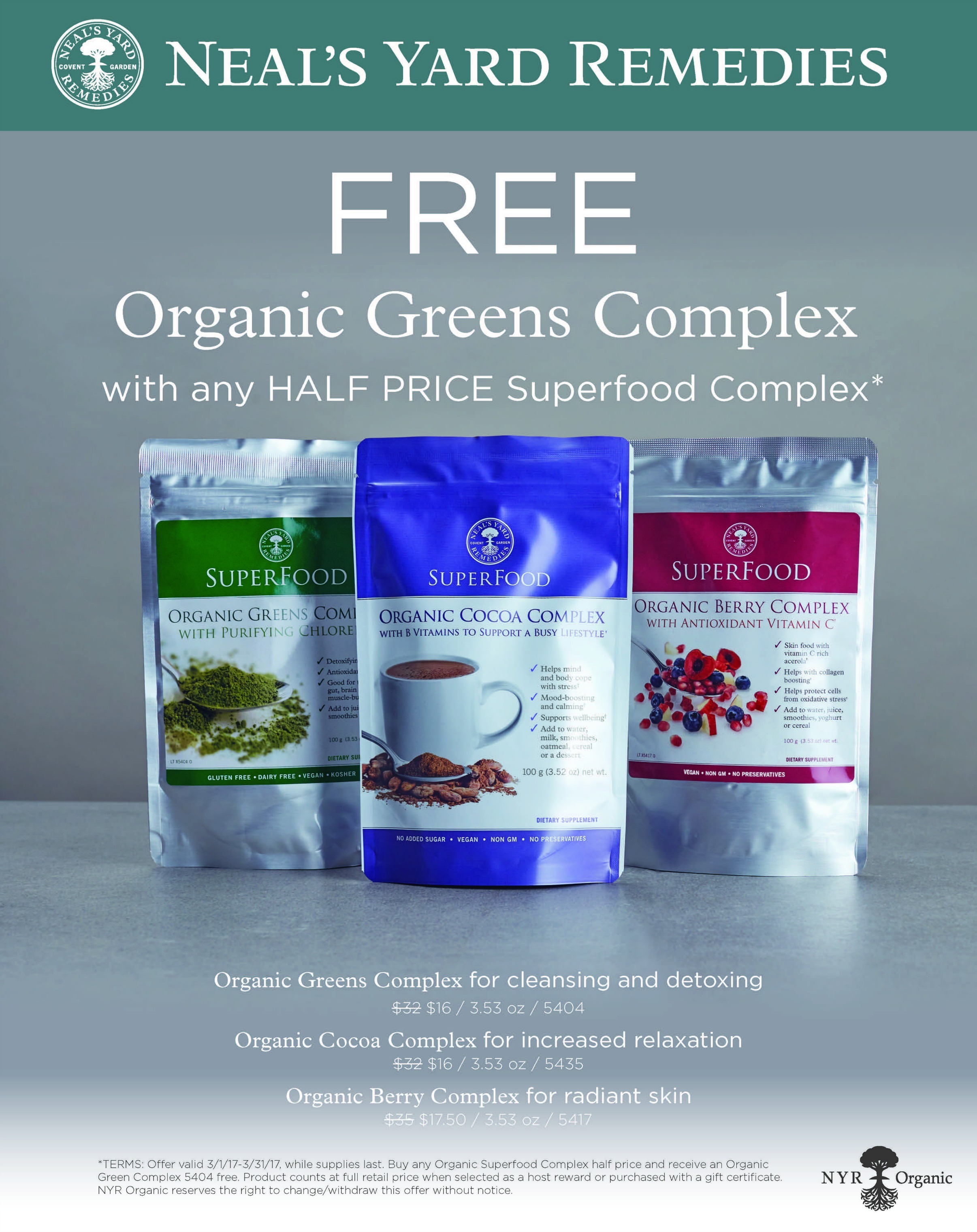 NYR Organic Deals in March - Superfoods