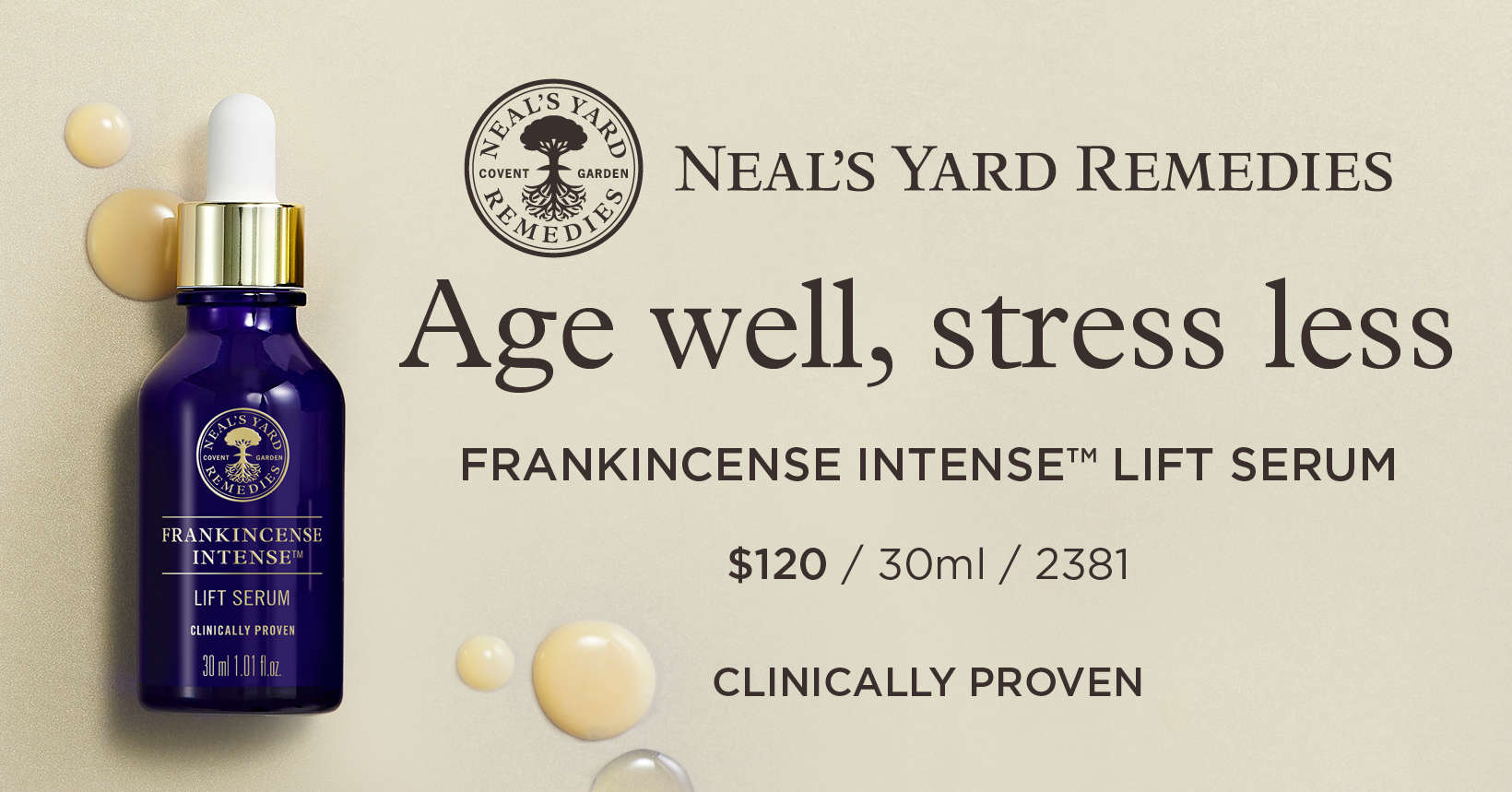 Frankincense Intense Lift Serum by Neal's Yard Remedies