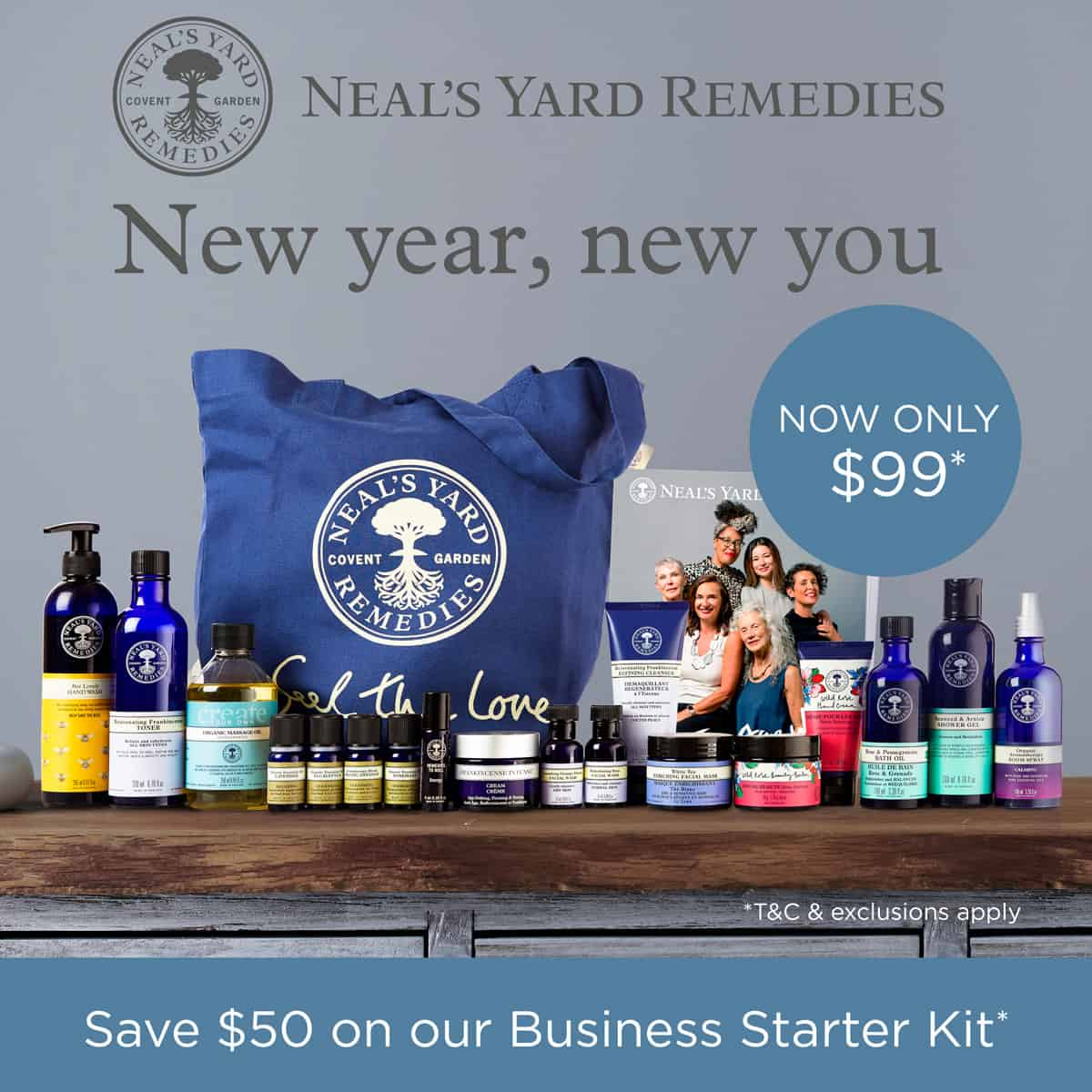Grow an Organic business! Join Neal's Yard Remedies for $99 and get over $500 in product!