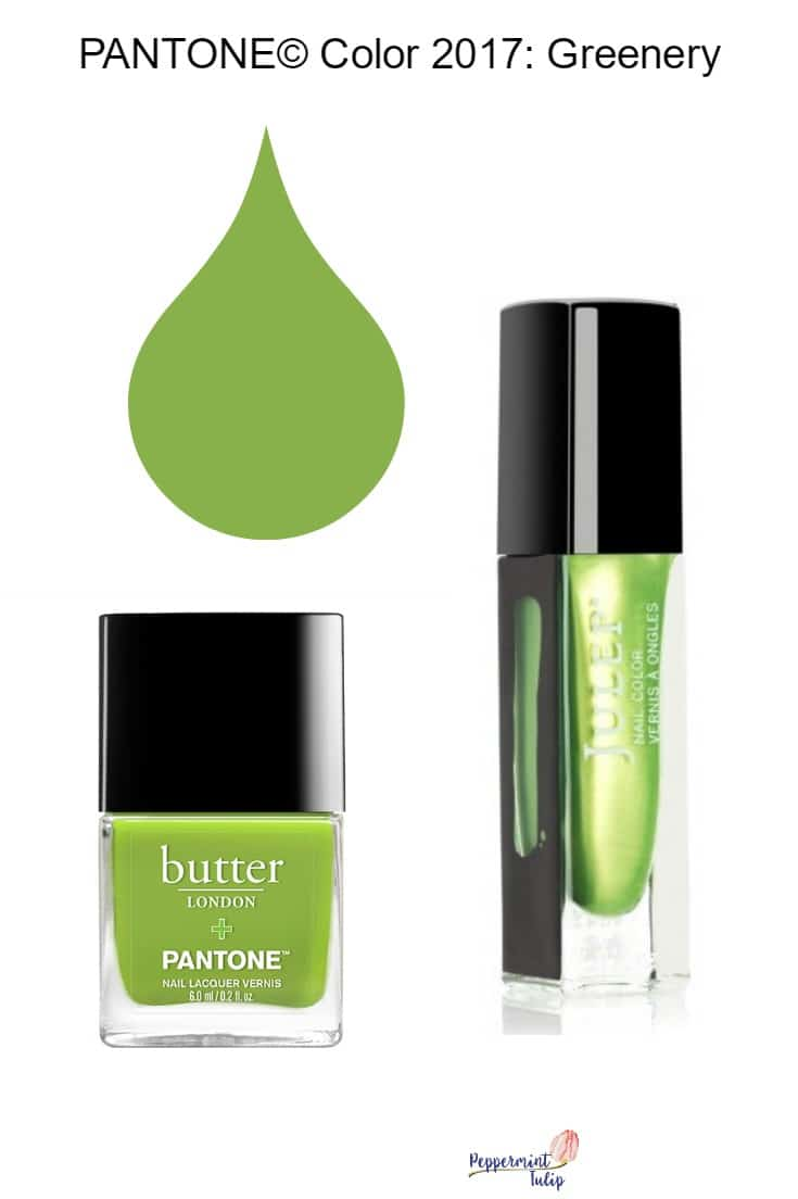 Greenery Color of the year nail polish