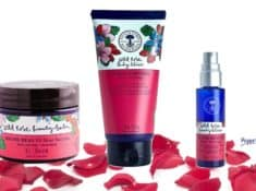 What is the difference between Wild Rose Beauty Balm, Beauty Elixir, and Body Elixir, by Neal's Yard Remedies. A comparison of ingredients.