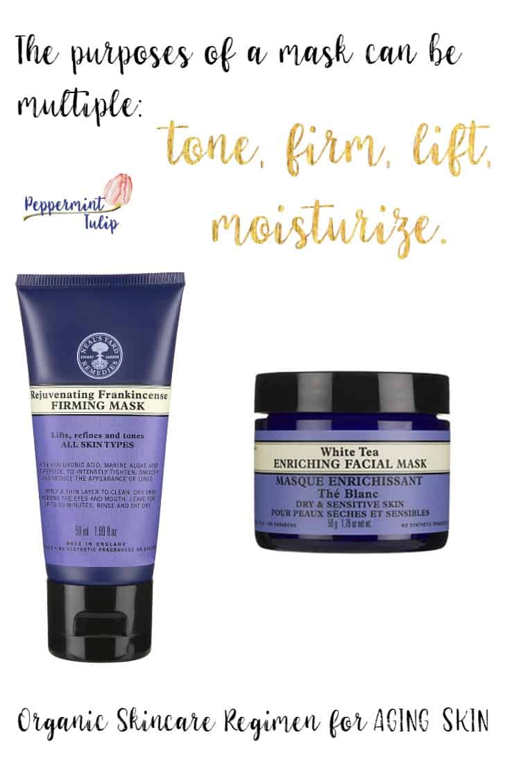 Masks for aging skin. Organic products.