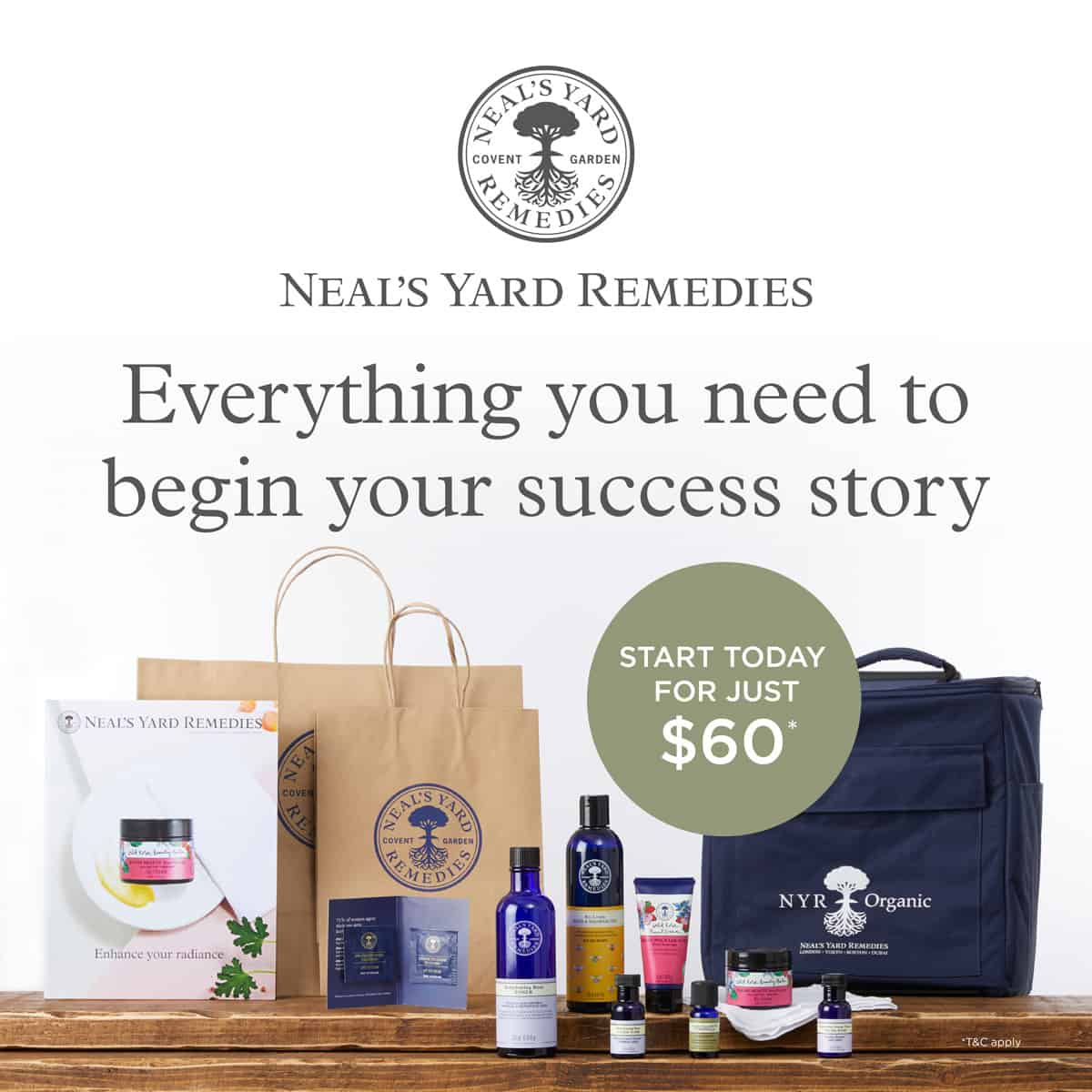 Join NYR Organic in May. $60 kit to start an organic skincare business.