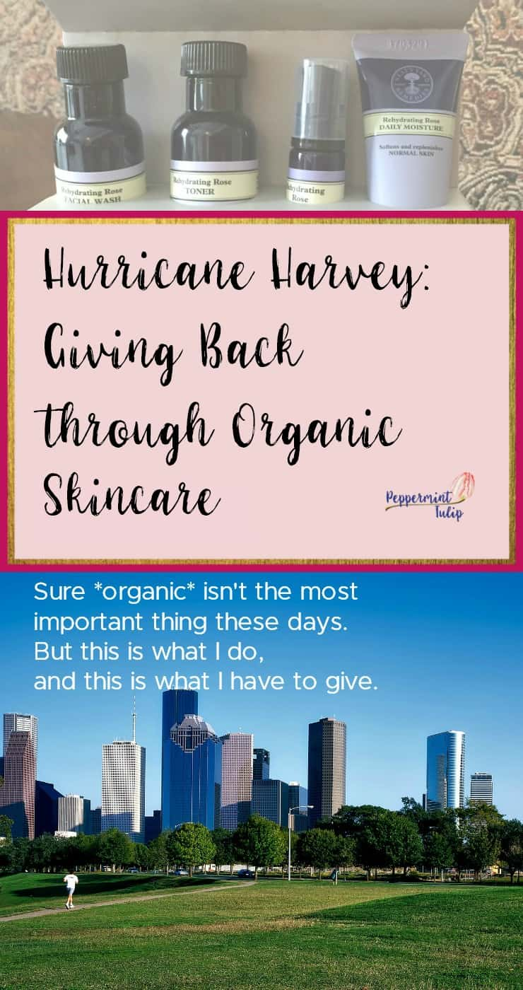 Hurricane Harvey: Giving back through Organic Skincare