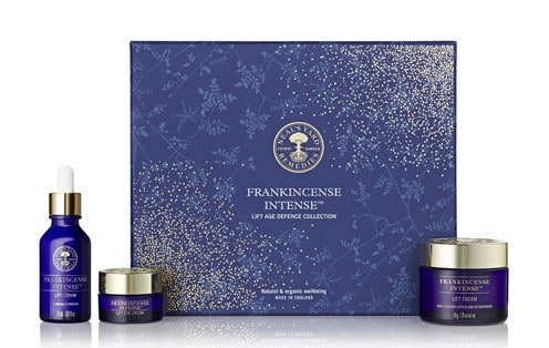 The top of the line Frankincense Intense Lift Gift Collection. Check out this and more organic gifts in the post! #giftideas #organicskincare #organic #essentialoils
